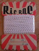 tiny white vintage ric rac 12yds on a very cool card