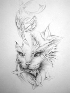 Cat Tattoo Idea - (NOT MY DRAWING)