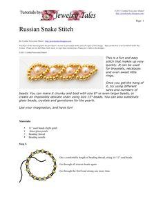 Bead Mavens: seed bead tutorials - Russian snake stitch tutorial. (related to Potowatomi Daisy Stitch)  #seed #bead #tutorial