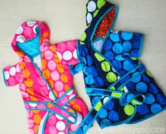 Sewing - kids robes from beach towels, great for around the pool