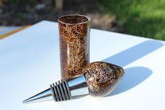 Resin Acrylic Embedded Fiber Turning Carving wine cork, bottle stopper blank #CutlerBayBlanks