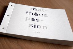 Matthaus Passion / book on Behance