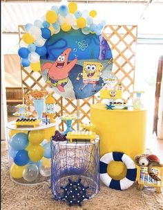 Spongebob Birthday Party, 9th Birthday Parties, 25th Birthday, Bob Sponge, Birthday Decorations For Men, Happy B Day, Party Planning, First Birthdays, Party Themes
