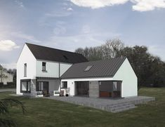 Bungalow Renovation, Farmhouse Renovation, Style At Home, Dormer House, Dormer Bungalow, House Designs Ireland, Bungalow Haus Design, L Shaped House, Rural House