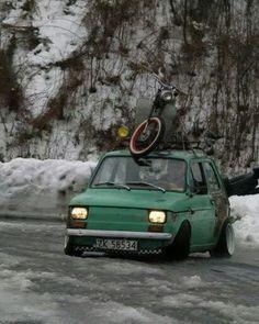 drifting rat i want. Fiat 126, Drift Truck, Fiat Abarth, Automotive Art, Modified Cars, Retro Cars, Rc Cars, Car Car, Cars And Motorcycles