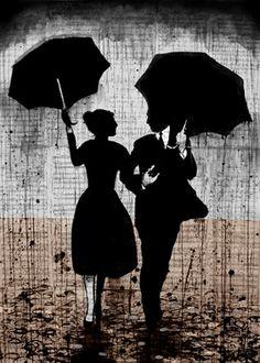 "Saatchi Online Artist Loui Jover; Drawing, ""a walk in the rain"" #art"