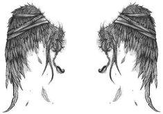 tattered wings by wipeoutthetiger.deviantart.com on @deviantART