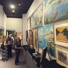 Great reception for Art Calusa tonight !