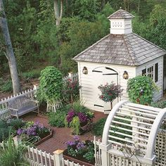 "229 Likes, 6 Comments - Kristy Woodson Harvey (@kristywharvey) on Instagram: ""What a charming garden and gardening shed via @southernlivingmag @joe_desciose • • • #gardens…"""