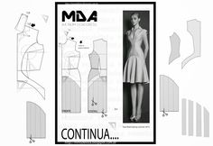 ModelistA: NUM 61 DRESS seg part. how to manipulate a sloper to create new designs Diy Clothing, Sewing Clothes, Clothing Patterns, Dress Patterns, Sewing Patterns, Techniques Couture, Sewing Techniques, Sewing Hacks, Sewing Tutorials