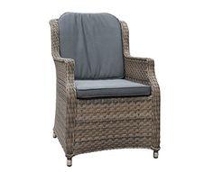 Sandbanks Rattan Dining Chair in Chic Walnut Outdoor Garden Furniture