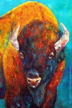 buffalo paintings art - Google Search Stier, Büffelkunst, Bisons, Jennifer  Morrison, Abstrakte 1921fd6816