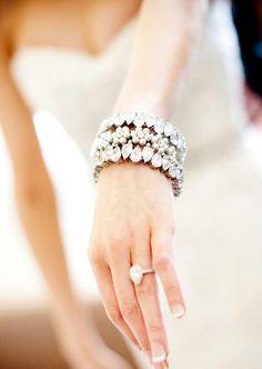 Bride's blinged out bracelet