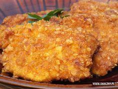 Kotleciki z kurczaka w chrupiącej panierce - do tego młode ziemniaczki z koperkiem i mizeria ^_^  To może być dobry obiad (Y) Co o tym sądzicie?? ;)   http://www.smaczny.pl/przepis,kurczak_w_chrupiacej_panierce_z_platkow_kukurydzianych  #przepisy #daniegłówne #obiad #kotlety #kotletydrobiowe #kurczak #płatkikukurydziane #smażenie #olej #kotletyzkurczaka