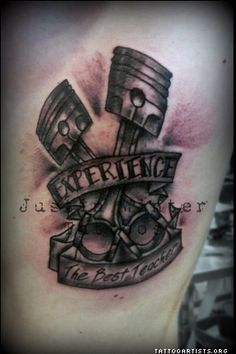 Engine Tattoo by Justin Winter Seattle, Wa