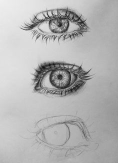 Pencil Drawing Tutorials Incomplete by Luuney - Pencil Art Drawings, Realistic Drawings, Art Drawings Sketches, Cool Drawings, Drawing Lips, Eye Sketch, Sketches Tutorial, Drawing Techniques, Drawing Tutorials