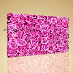 """Pink Rose Flowers Abstract Floral Painting On Canvas HD Print Mural Contemporary Extra Large Wall Art, Gallery Wrapped, by Bo Yi Gallery 36""""x24"""". Pink Rose Flowers Abstract Floral Painting On Canvas HD Print Mural Contemporary Subject : Rose Flower Style : Modern Panels : 1 Detail Size : 36""""x24""""x1 Overall Size : 36""""x24"""" = 91cm x 61cm Medium : Giclee Print On Canvas Condition : Brand New Frames : Gallery wrapped [FEATURES] Lightweight and easy to hang. High revolution giclee..."""