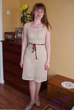 Chanel Style Dress - roundup of 10 free crochet dress patterns for women!