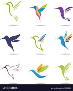 Hummingbird Tattoos Shape of the solid blue one Cute Tattoos, Body Art Tattoos, Hummingbird Drawing, Hummingbird Illustration, Hummingbird Tattoo Black, Freundin Tattoos, Bird Art, Painted Rocks, Tatting