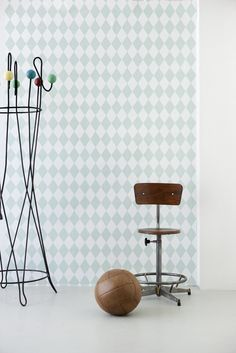 Harlequin Mint Wallpaper from ferm LIVING. #wallpaper #design #pattern