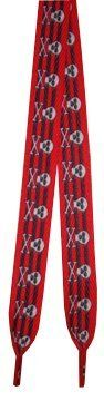 """Foot Galaxy 54"""" Red and Black Stripe with Skull Shoe Laces Foot Galaxy. $4.49. Save 10% Off!"""