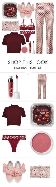 """cropped everything"" by emcf3548 ❤ liked on Polyvore featuring Nina Ricci, CO, FRUIT, La Perla, Bare Escentuals, Joshua's and Charlotte Olympia"