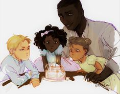 "eerna: "" ""Evret tried to show Selene how to blow out the candles, while wax dripped into the frosting. Winter, too, wanted to take part in the celebration, and baby spittle was left all over the pretty cake before young Jacin Clay got annoyed and..."