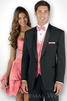 The Gray Portofino Slim Fit Tuxedo features contrasting black ...