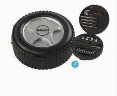 PERSONALIZED 20 pc wheel Tire Shape Gift Tool Kit      63468