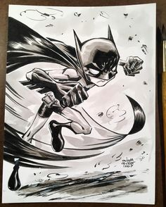 regram @adamarcher11 Put an #inkwash on a #batman piece I did a week or two ago. Used some diluted #Noodlers  black. One drop in some water two drops in another  and three drops in the third bit of water. Used some pro white at the end. Done on a 6x8 inch Bristol. 55$ in US.  #art  #artstagram  #drawing  #illustration  #kidsbooks  #childrensbooks  #comics  #comicart  #cartoons  #childrensbook #kidsbook #instaart  #artgallery  #kidlit #kidlitart #artoftheday #comicbookart #kidsbookstagram #dc…