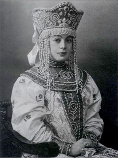 Russia beauty from the well known winter ball , 1903