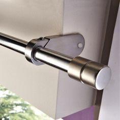 Support sans perçage tringle à rideau Ib+, 25 mm chromé mat IB+   Leroy Merlin