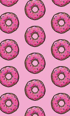 Wallpaper # # # me # - Donuts Food Wallpaper, Wallpaper For Your Phone, Tumblr Wallpaper, Pink Wallpaper, Screen Wallpaper, Pattern Wallpaper, Cute Backgrounds, Cute Wallpapers, Wallpaper Backgrounds