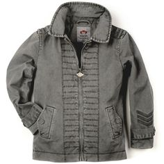 Military style jacket in charcoal! Love it