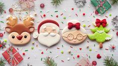 Whoopies at matcha tea - HQ Recipes Christmas Tree Cookie Cutter, Christmas Sugar Cookies, Christmas Desserts, Christmas Treats, Christmas Baking, Decorated Christmas Cookies, Santa Cookies, Mini Cookies, Rudolph Christmas