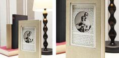 vintage book photo frame! | Tengo que hacer esto! Love it!