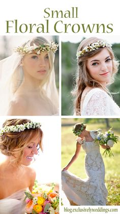 Floral crowns, also called floral hair wreaths or flower crowns, have been around since ancient times and their popularity has seen its ups and downs throughout the years. Their use in weddings slo. Flower Crown Wedding, Wedding Flowers, Wedding Hair And Makeup, Bridal Hair, Dream Wedding, Wedding Day, Hair Wreaths, Handfasting, Floral Hair