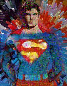 Superman wall Collage by John Lijo Bluefish