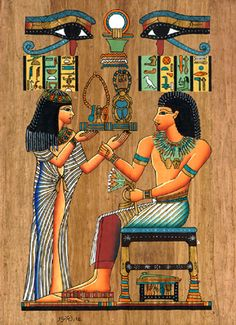 Egyptians - showing a variation on the wearing of the Kalasiris Egyptian Mythology, Egyptian Goddess, Egyptian Art, Egyptian Jewelry, Ancient Egypt Art, Ancient Aliens, Ancient History, European History, Ancient Artifacts