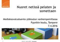 Kinda Oy   Pauliina Mäkelä   www.kinda.fi Nuoret netissä pelaten…