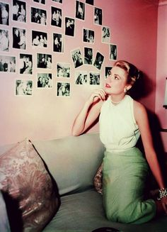 "Grace Kelly on the set of ""Rear Window"" (1954)"