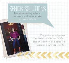 Tips for increasing profitability in the high school senior market.
