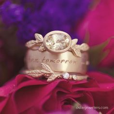 """""""More than yesterday...less than tomorrow."""".#mydiamondstyle #mybridalstyle   Shop our unique wedding band selection at osterjewelers.com/bridal"""