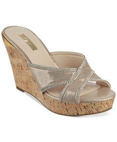 fa0a0ccd Guess Eleonora Platform Wedge Slide Sandals Sandalias De Cuña, Zuecos,  Zapatos Guess Mujer,