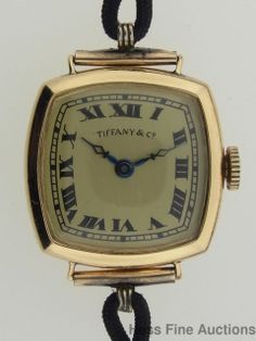 Immaculate 1930s Art Deco Tiffany 18K Gold Longines Ladies Large Cushion Watch | eBay...