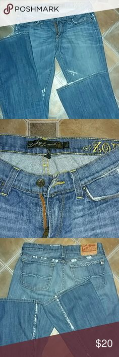 Lucky brand Awesome distressed jeans Lucky brand jeans size 2/26. Perfect distressed condition. Lucky Brand Jeans