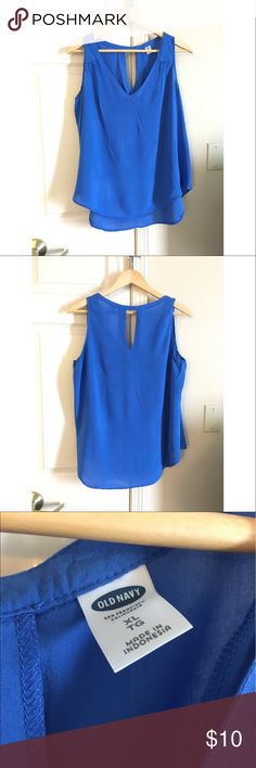 Old Navy Royal Blue Tank - XL Royal Blue Tank just in time for the 4th of July! This top is from Old Navy and is a size XL. It was worn once 💙 Old Navy Tops Tank Tops