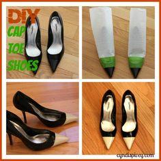 This is so cute!! DIY Cap Toe Shoes via @Cyndi @cyndispivey.com