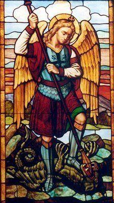 #ArchangelMichael #stainedglass #churchwindows