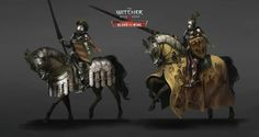 Take a look at the Concept Art of Witcher 3 created by Marta Dettlaff, Concept Artist at CD Projekt RED in Poland. Knight On Horse, Horse Armor, Knight Art, Fantasy Concept Art, Fantasy Images, Fantasy Armor, Fantasy Inspiration, Character Inspiration, Character Art
